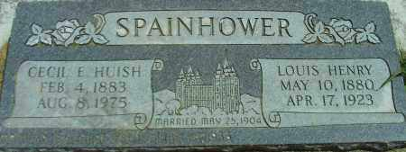 HUISH SPAINHOWER, CECIL E. - Utah County, Utah | CECIL E. HUISH SPAINHOWER - Utah Gravestone Photos