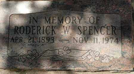 SPENCER, RODERICK W. - Utah County, Utah | RODERICK W. SPENCER - Utah Gravestone Photos