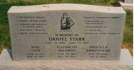 STARK, DANIEL - Utah County, Utah | DANIEL STARK - Utah Gravestone Photos