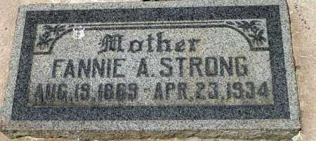 STRONG, FANNIE ANN - Utah County, Utah | FANNIE ANN STRONG - Utah Gravestone Photos