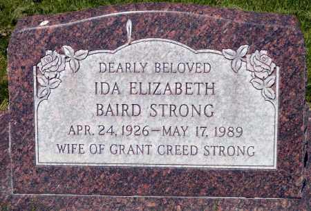 STRONG, IDA ELIZABETH - Utah County, Utah | IDA ELIZABETH STRONG - Utah Gravestone Photos