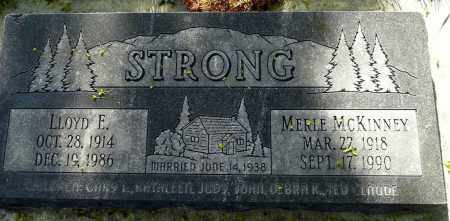 STRONG, LLOYD E. - Utah County, Utah | LLOYD E. STRONG - Utah Gravestone Photos