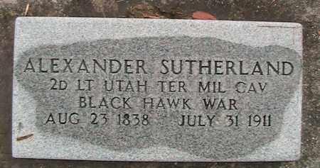 SUTHERLAND (IW), ALEXANDER GEORGE - Utah County, Utah | ALEXANDER GEORGE SUTHERLAND (IW) - Utah Gravestone Photos