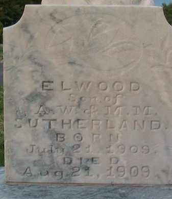 SUTHERLAND, ELWOOD - Utah County, Utah | ELWOOD SUTHERLAND - Utah Gravestone Photos