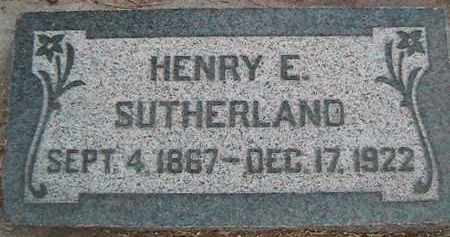 SUTHERLAND, HENRY EDWARD - Utah County, Utah   HENRY EDWARD SUTHERLAND - Utah Gravestone Photos