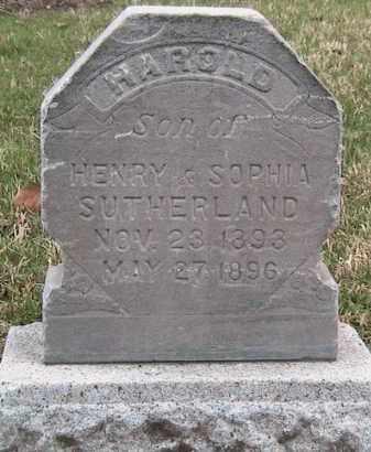 SUTHERLAND, HAROLD - Utah County, Utah   HAROLD SUTHERLAND - Utah Gravestone Photos