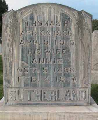 SUTHERLAND, ANNIE - Utah County, Utah   ANNIE SUTHERLAND - Utah Gravestone Photos