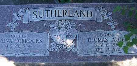 HORROCKS, YVONA - Utah County, Utah | YVONA HORROCKS - Utah Gravestone Photos