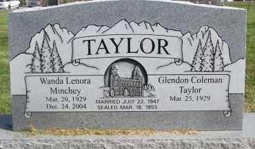 MINCHEY TAYLOR, WANDA LENORA - Utah County, Utah   WANDA LENORA MINCHEY TAYLOR - Utah Gravestone Photos
