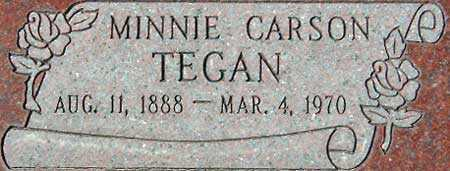 CARSON TEGAN, MINNIE ALICE - Utah County, Utah | MINNIE ALICE CARSON TEGAN - Utah Gravestone Photos