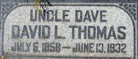THOMAS, DAVID LLEWELLEN - Utah County, Utah | DAVID LLEWELLEN THOMAS - Utah Gravestone Photos