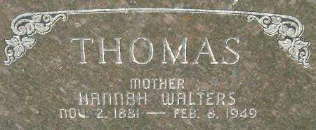 THOMAS, HANNAH - Utah County, Utah | HANNAH THOMAS - Utah Gravestone Photos