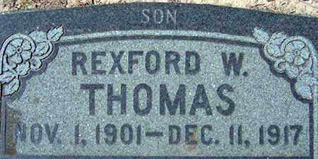 THOMAS, REXFORD WALTER - Utah County, Utah | REXFORD WALTER THOMAS - Utah Gravestone Photos