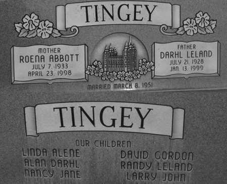 TINGEY, DARHL LELAND - Utah County, Utah | DARHL LELAND TINGEY - Utah Gravestone Photos