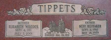 WILCOCK TIPPETS, ELIZABETH - Utah County, Utah | ELIZABETH WILCOCK TIPPETS - Utah Gravestone Photos
