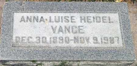 VANCE, ANNA LUISE - Utah County, Utah   ANNA LUISE VANCE - Utah Gravestone Photos