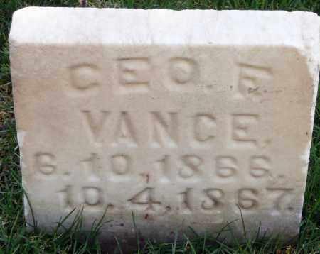 VANCE, GEORGE FRANK - Utah County, Utah | GEORGE FRANK VANCE - Utah Gravestone Photos