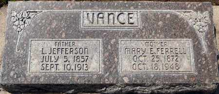 VANCE, LEWIS JEFFERSON - Utah County, Utah | LEWIS JEFFERSON VANCE - Utah Gravestone Photos