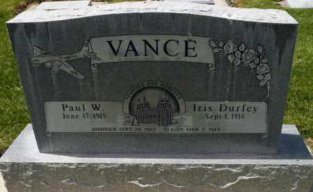 VANCE, PAUL W. - Utah County, Utah | PAUL W. VANCE - Utah Gravestone Photos