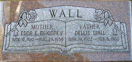 MCKINNEY WALL, EDNA ELLEN - Utah County, Utah | EDNA ELLEN MCKINNEY WALL - Utah Gravestone Photos