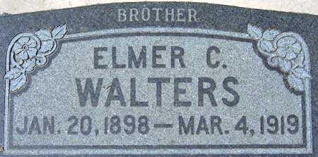 WALTERS, ELMER CARSON - Utah County, Utah | ELMER CARSON WALTERS - Utah Gravestone Photos
