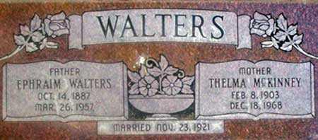 WALTERS, EPHRAIM - Utah County, Utah | EPHRAIM WALTERS - Utah Gravestone Photos