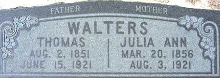 WALTERS, THOMAS - Utah County, Utah | THOMAS WALTERS - Utah Gravestone Photos