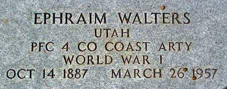 WALTERS (WWI), EPHRAIM - Utah County, Utah   EPHRAIM WALTERS (WWI) - Utah Gravestone Photos
