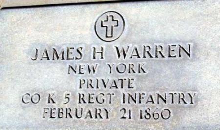 WARREN (SERV), JAMES H. - Utah County, Utah | JAMES H. WARREN (SERV) - Utah Gravestone Photos