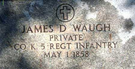 WAUGH (SERV), JAMES D. - Utah County, Utah | JAMES D. WAUGH (SERV) - Utah Gravestone Photos