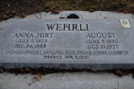 WEHRLI, ANNA - Utah County, Utah | ANNA WEHRLI - Utah Gravestone Photos
