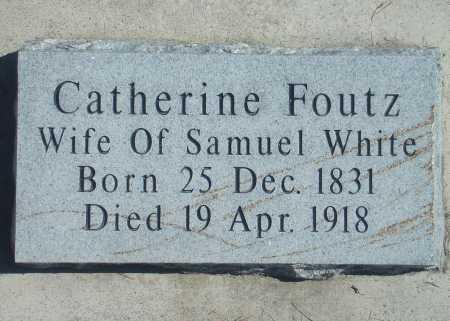 WHITE, CATHERINE - Utah County, Utah   CATHERINE WHITE - Utah Gravestone Photos