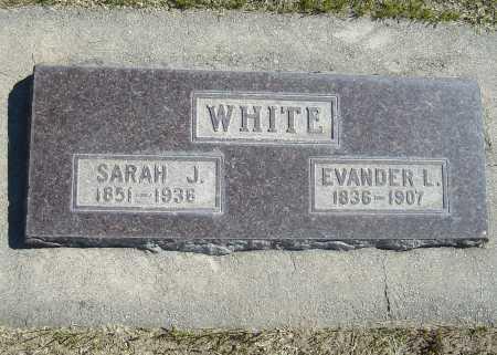 WHITE, SARAH JANE - Utah County, Utah | SARAH JANE WHITE - Utah Gravestone Photos