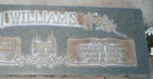 WILLIAMS, BENJAMIN ERNEST - Utah County, Utah   BENJAMIN ERNEST WILLIAMS - Utah Gravestone Photos