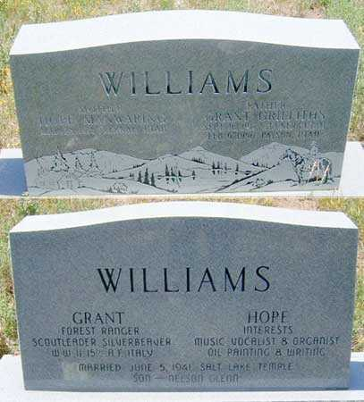 MANWARING WILLIAMS, HOPE - Utah County, Utah | HOPE MANWARING WILLIAMS - Utah Gravestone Photos