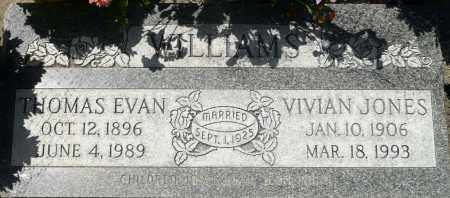 WILLIAMS, THOMAS EVAN - Utah County, Utah | THOMAS EVAN WILLIAMS - Utah Gravestone Photos