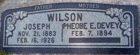 DEVEY WILSON, PHEOBE E. - Utah County, Utah | PHEOBE E. DEVEY WILSON - Utah Gravestone Photos