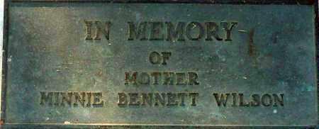 BENNETT WILSON, MINNIE - Utah County, Utah | MINNIE BENNETT WILSON - Utah Gravestone Photos