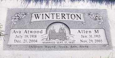 WINTERTON, ALLEN M. - Utah County, Utah   ALLEN M. WINTERTON - Utah Gravestone Photos