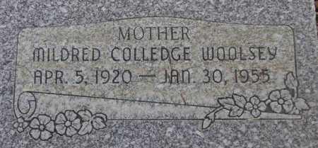 COLLEDGE WOOLSEY, MILDRED VERA - Utah County, Utah | MILDRED VERA COLLEDGE WOOLSEY - Utah Gravestone Photos