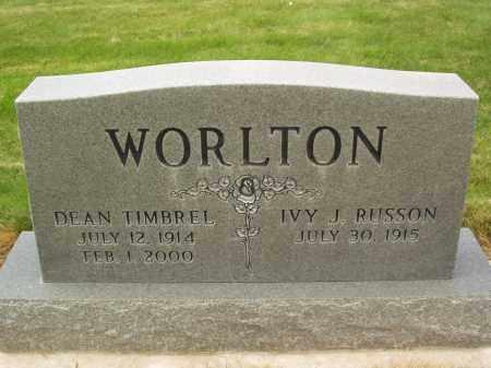 RUSSON WORLTON, IVY J. - Utah County, Utah | IVY J. RUSSON WORLTON - Utah Gravestone Photos