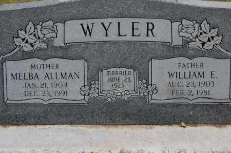 WYLER, MELBA ELMIRA - Utah County, Utah | MELBA ELMIRA WYLER - Utah Gravestone Photos