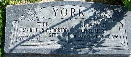 THROCKMORTON YORK, MYRNA - Utah County, Utah | MYRNA THROCKMORTON YORK - Utah Gravestone Photos