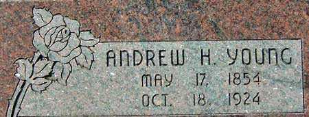 YOUNG, ANDREW HENRY - Utah County, Utah   ANDREW HENRY YOUNG - Utah Gravestone Photos