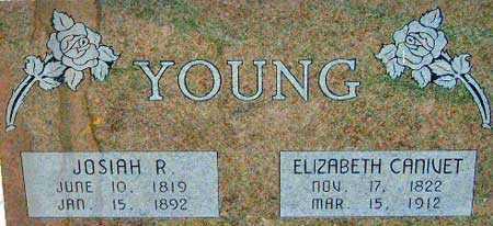 CANIVET YOUNG, EIZABETH - Utah County, Utah | EIZABETH CANIVET YOUNG - Utah Gravestone Photos