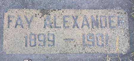 BONNER, FAY ALEXANDER - Wasatch County, Utah | FAY ALEXANDER BONNER - Utah Gravestone Photos
