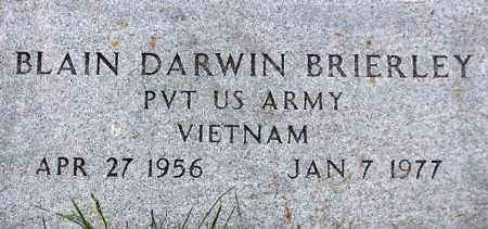 BRIERLEY, BLAIN DARWIN - Wasatch County, Utah | BLAIN DARWIN BRIERLEY - Utah Gravestone Photos