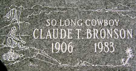 BRONSON, CLAUDE TRACY - Wasatch County, Utah | CLAUDE TRACY BRONSON - Utah Gravestone Photos