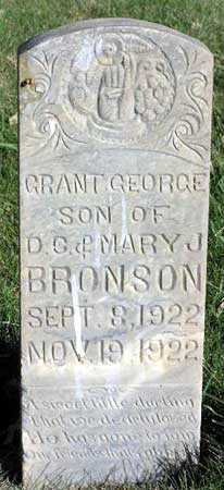 BRONSON, GRANT GEORGE - Wasatch County, Utah | GRANT GEORGE BRONSON - Utah Gravestone Photos