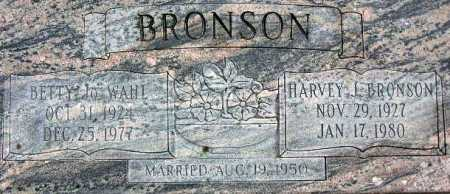 WAHL BRONSON, BETTY JO - Wasatch County, Utah | BETTY JO WAHL BRONSON - Utah Gravestone Photos